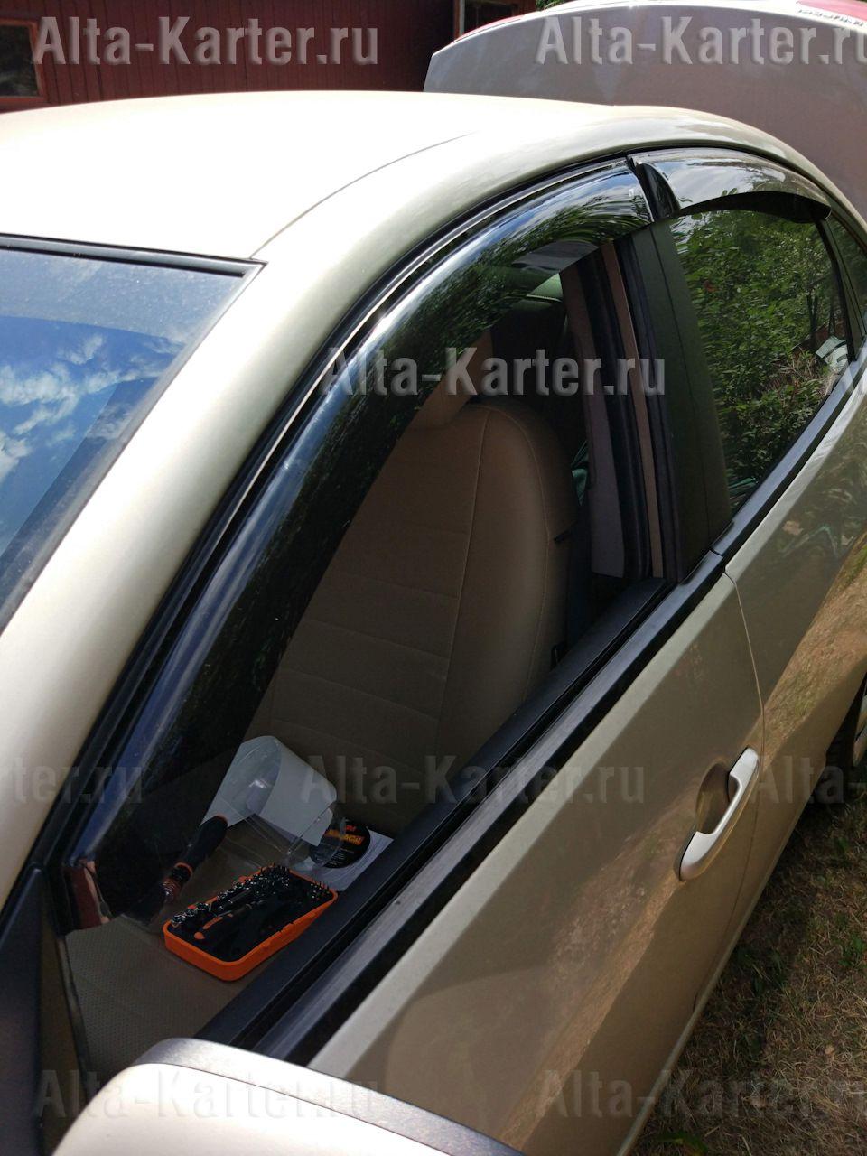 Дефлекторы Cobra Tuning для окон Hyundai Elantra IV седан 2006-2011. Артикул H20307