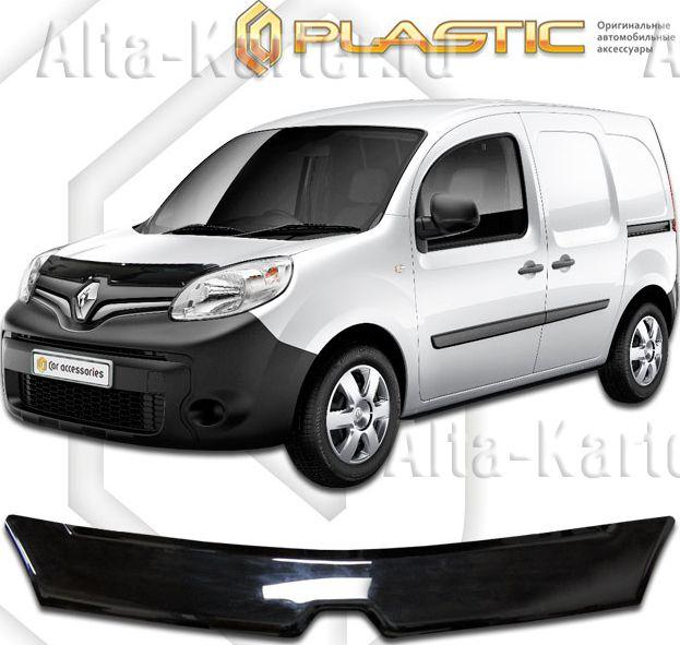 Дефлектор СА Пластик для капота (Classic черный) Renault Kangoo 2008 по наст. вр.. Артикул 2010010109745