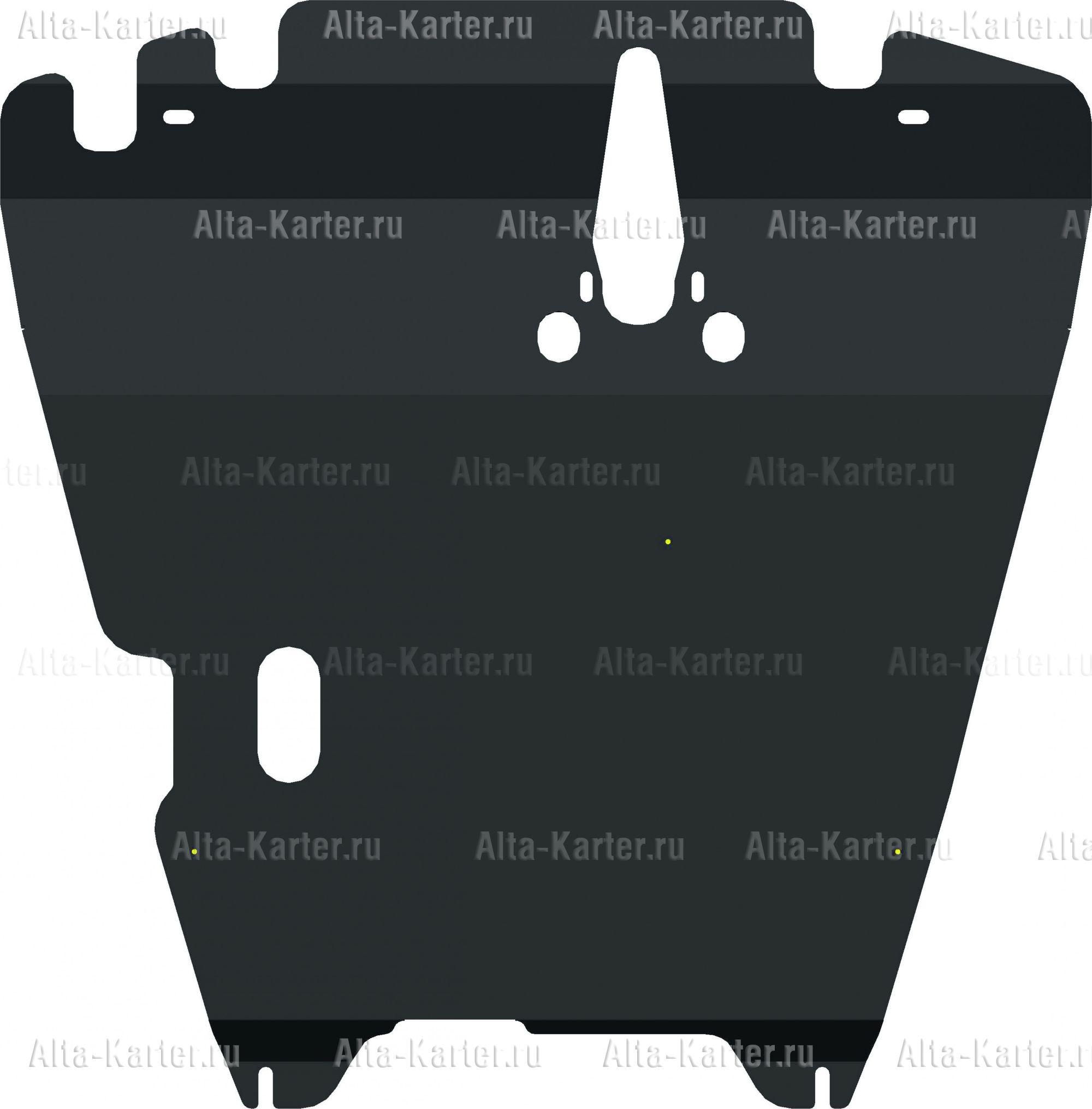 Защита Alfeco для картера и КПП Mitsubishi Lancer 9 2000-2007. Артикул ALF.14.01