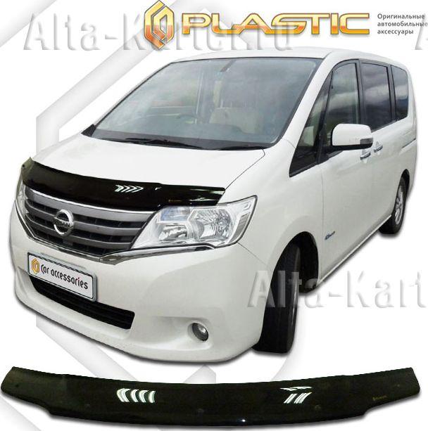 Дефлектор СА Пластик для капота (Classic черный) Nissan Serena C26 2010-2013. Артикул 2010010112097