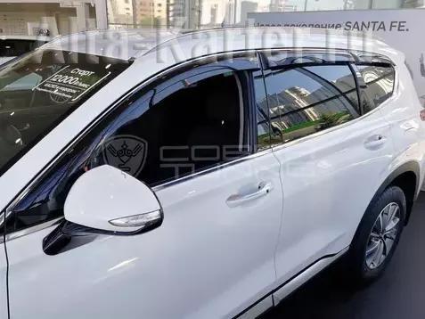 Дефлекторы Cobra Tuning для окон Hyundai Santa Fe IV 2018 по наст. вр.. Артикул H26418
