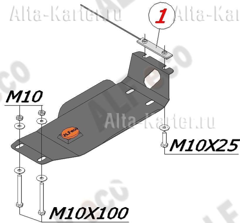 Защита Alfeco для редуктора Subaru Impreza III 2007-2011. Артикул ALF.22.06