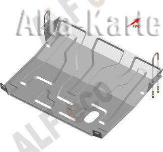 Защита Alfeco для картера и КПП ВАЗ 2110 1996-2007. Артикул ALF.28.060st