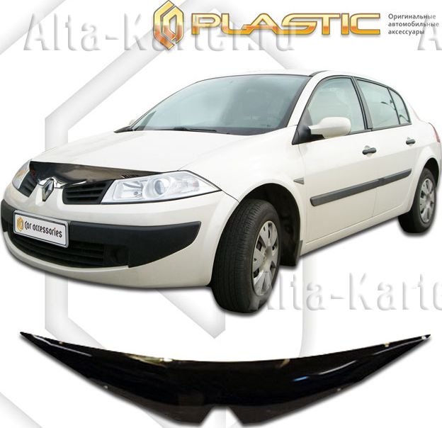 Дефлектор СА Пластик для капота (Classic черный) Renault Megane 2006. Артикул 2010010102111