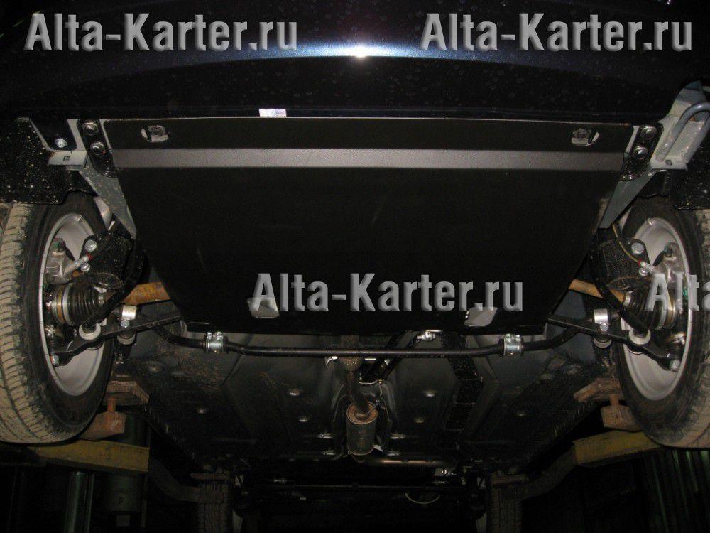 Защита Alfeco для картера и КПП Lada Kalina 2005-2010 кузбаслак. Артикул ALF.28.07