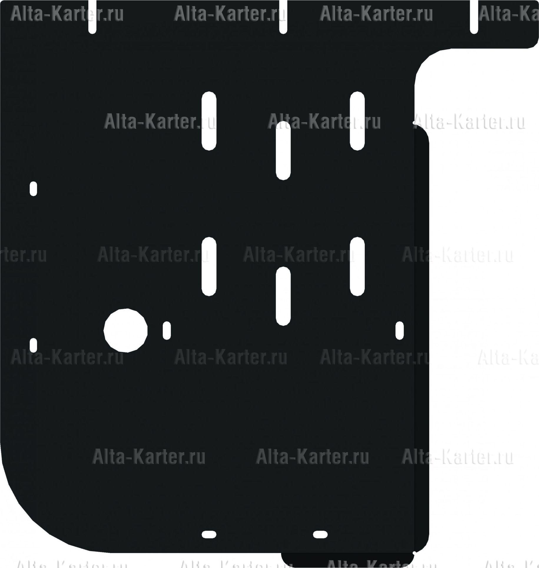 Защита Alfeco для КПП BMW 1-серия E81 2007-2011. Артикул ALF.34.15