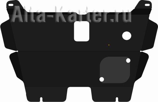 Защита Alfeco для картера и КПП Hafei Brio 2002-2010. Артикул ALF.40.01