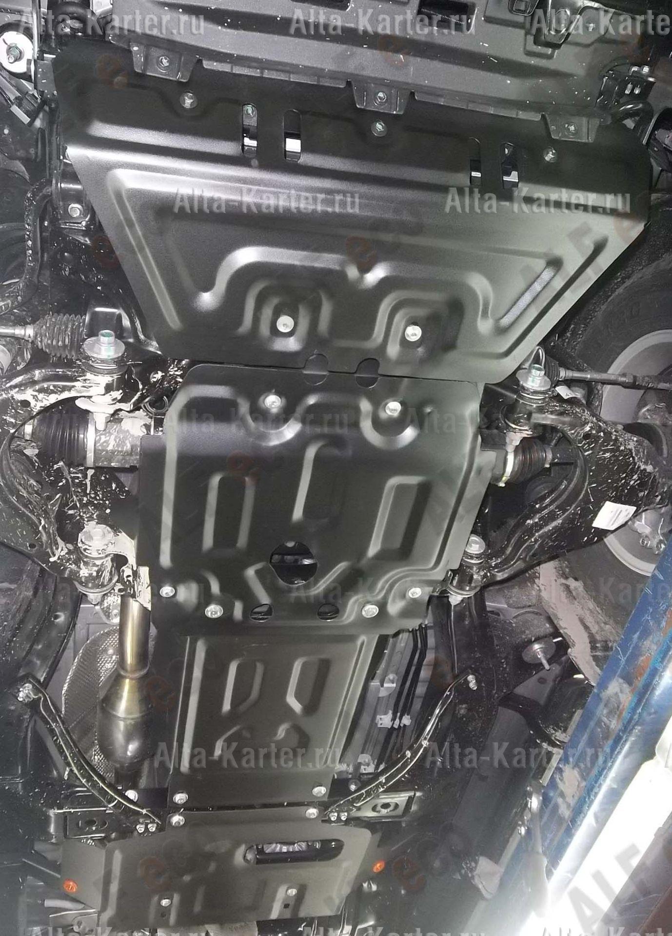 Защита Alfeco для картера, КПП, раздатки и рулевых тяг Lexus GX 460 2009-2021. Артикул ALF.24.40,41,42,43