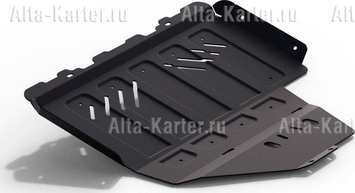 Защита Rival для картера и КПП (увеличенная) Subaru XV I 2012-2017. Артикул 111.5427.1