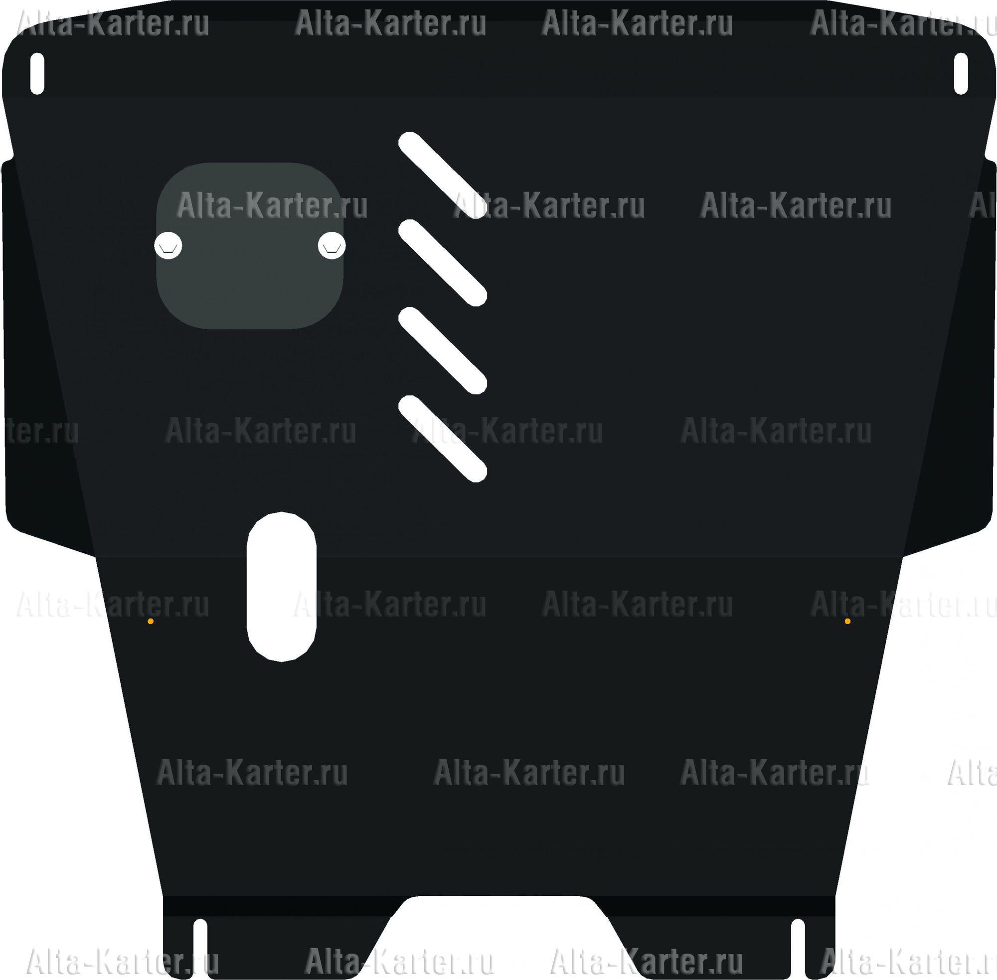 Защита Alfeco для картера и КПП Toyota Yaris P1 1999-2006. Артикул ALF.24.44