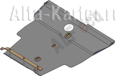Защита Alfeco для картера и КПП Nissan Bassara 1999-2003. Артикул ALF.15.77st