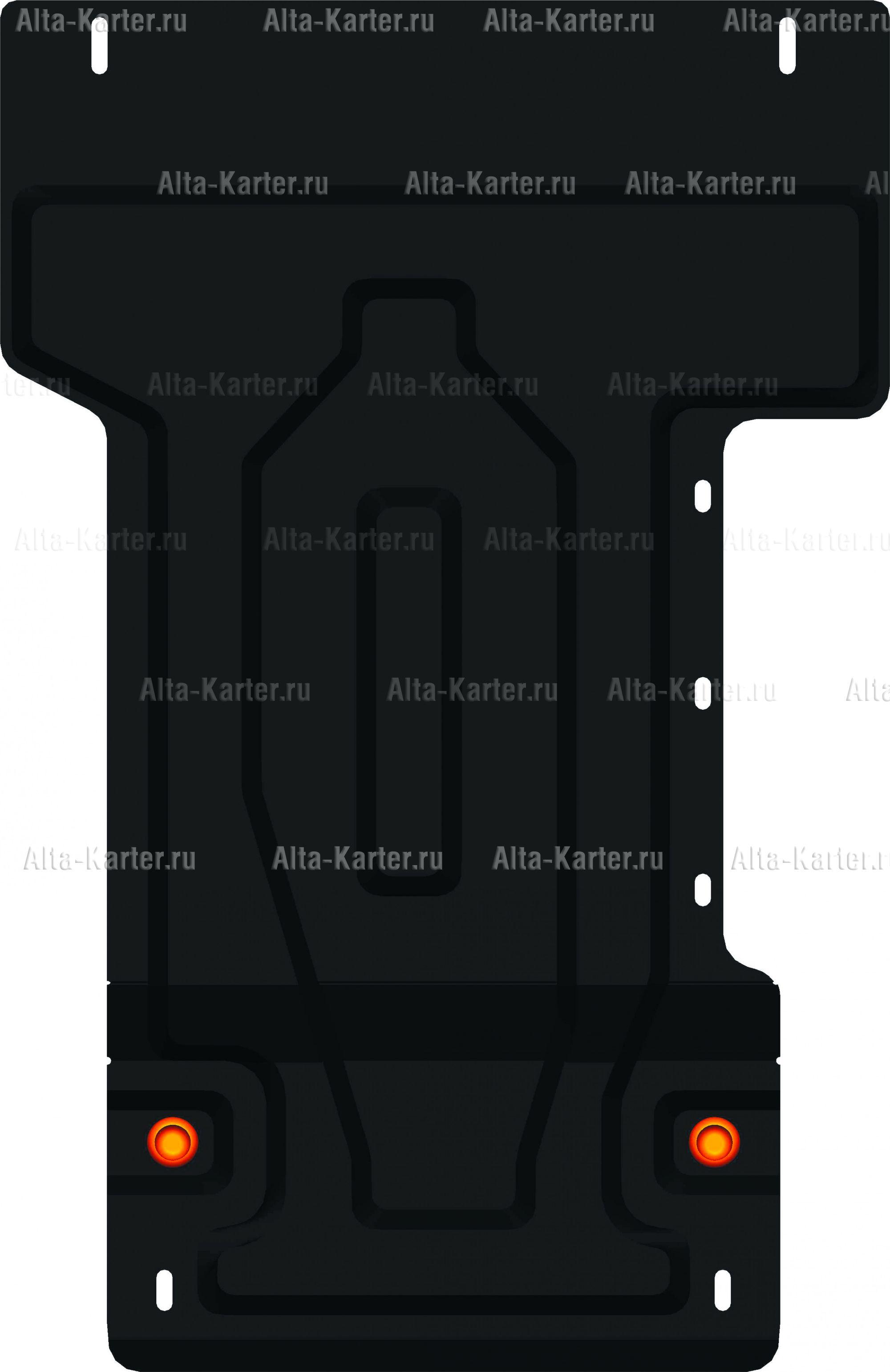 Защита Alfeco для КПП Lexus LX 570 2015-2021. Артикул ALF.24.97