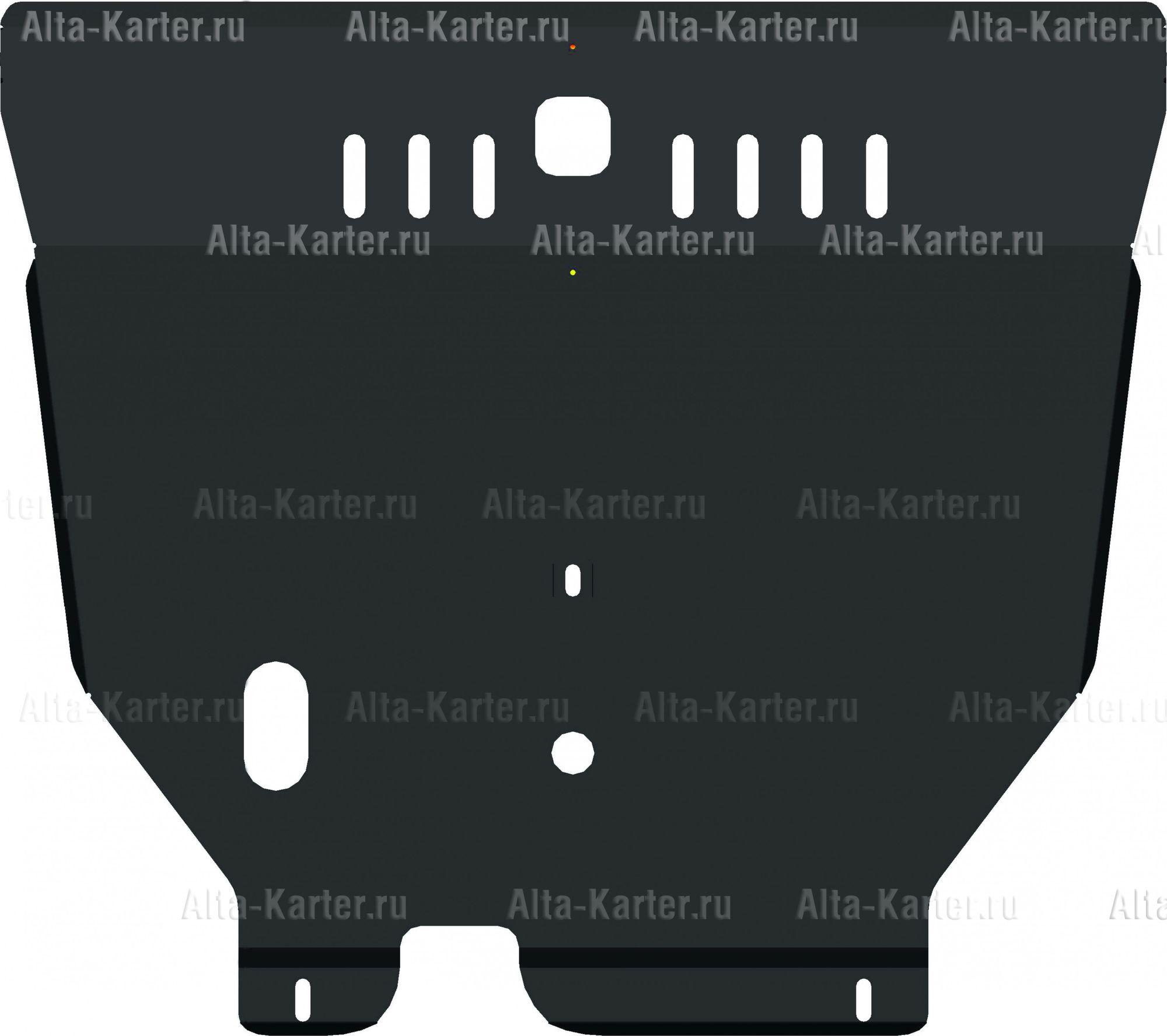Защита Alfeco для картера и АКПП Nissan Maxima A33 1999-2003. Артикул ALF.15.30