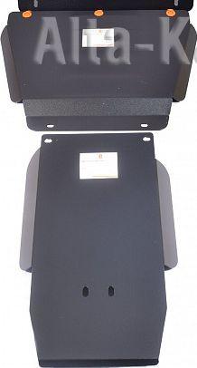 Защита Alfeco для картера и КПП Nissan Elgrand E50 1997-2002. Артикул ALF.15.51.2