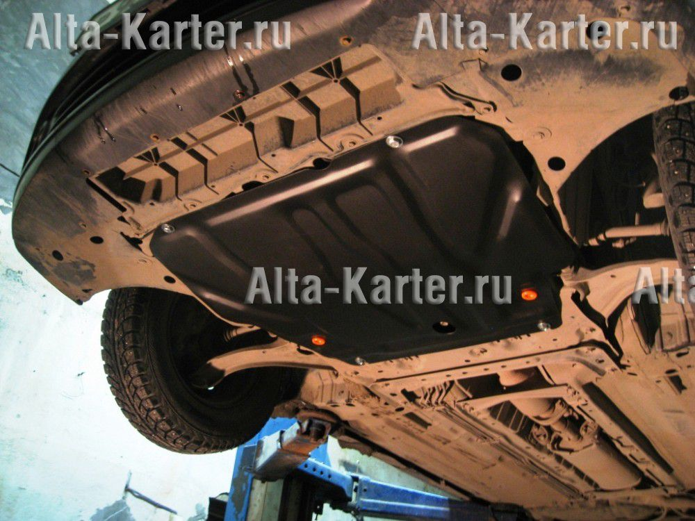 Защита Alfeco для картера и КПП Nissan Wingroad Y12 2005-2021. Артикул ALF.15.13 st