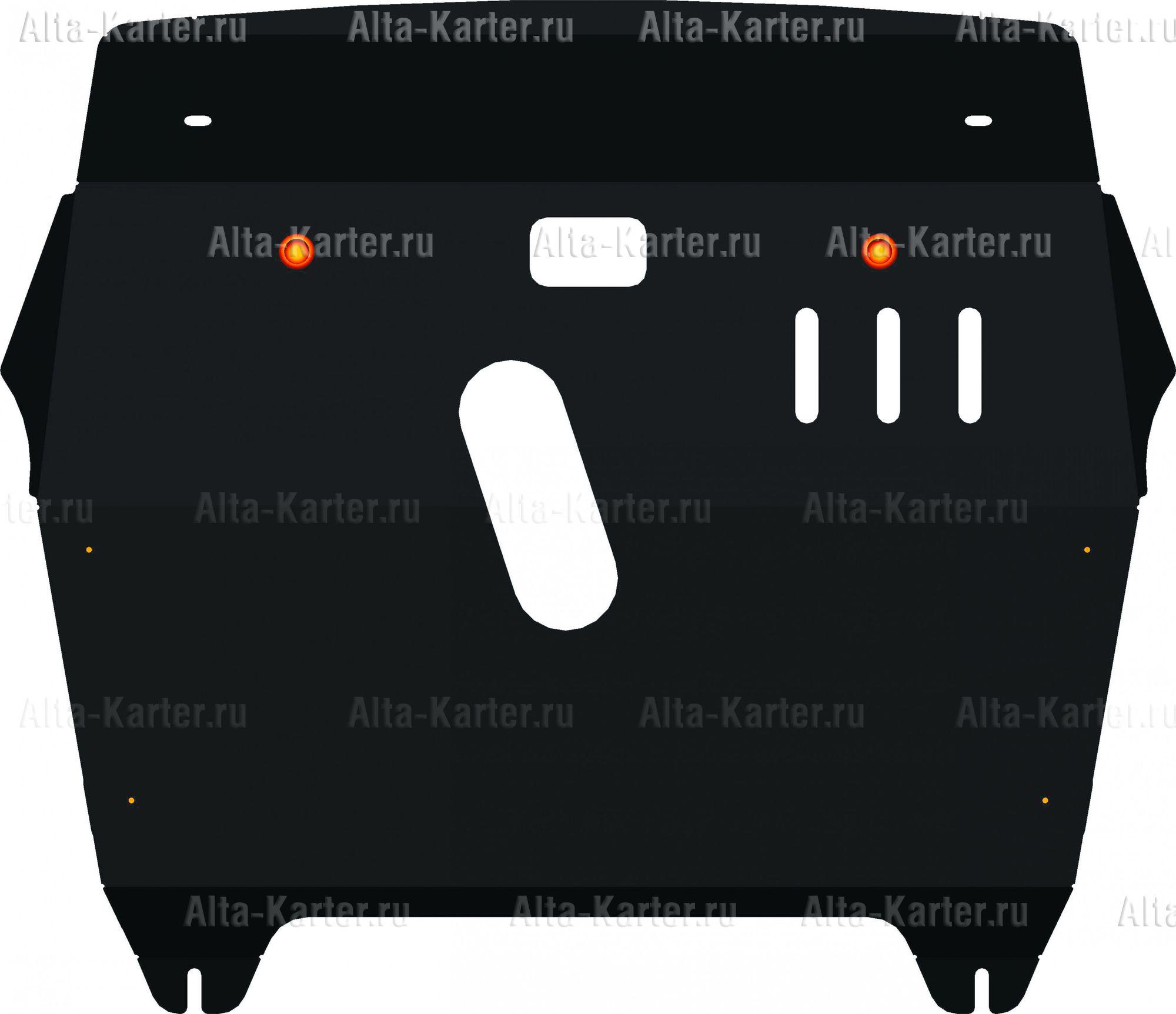 Защита Alfeco для картера и КПП Toyota Highlander I 2003-2007. Артикул ALF.24.28