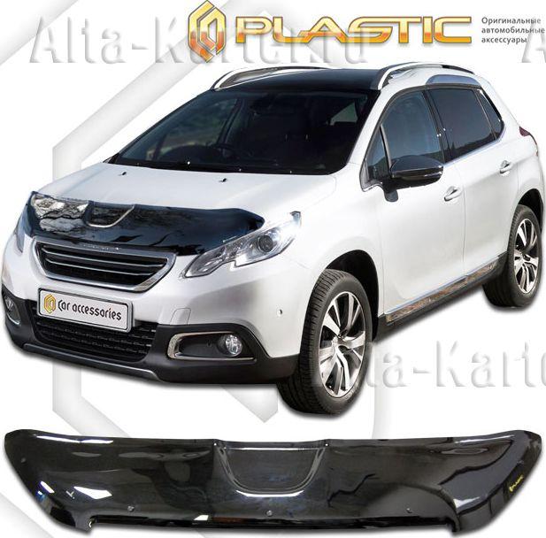 Дефлектор СА Пластик для капота (Classic черный) Peugeot 2008 2013 по наст. вр.. Артикул 2010010110147