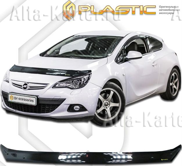 Дефлектор СА Пластик для капота (Classic черный) Opel Astra J 2011-2015. Артикул 2010010106676