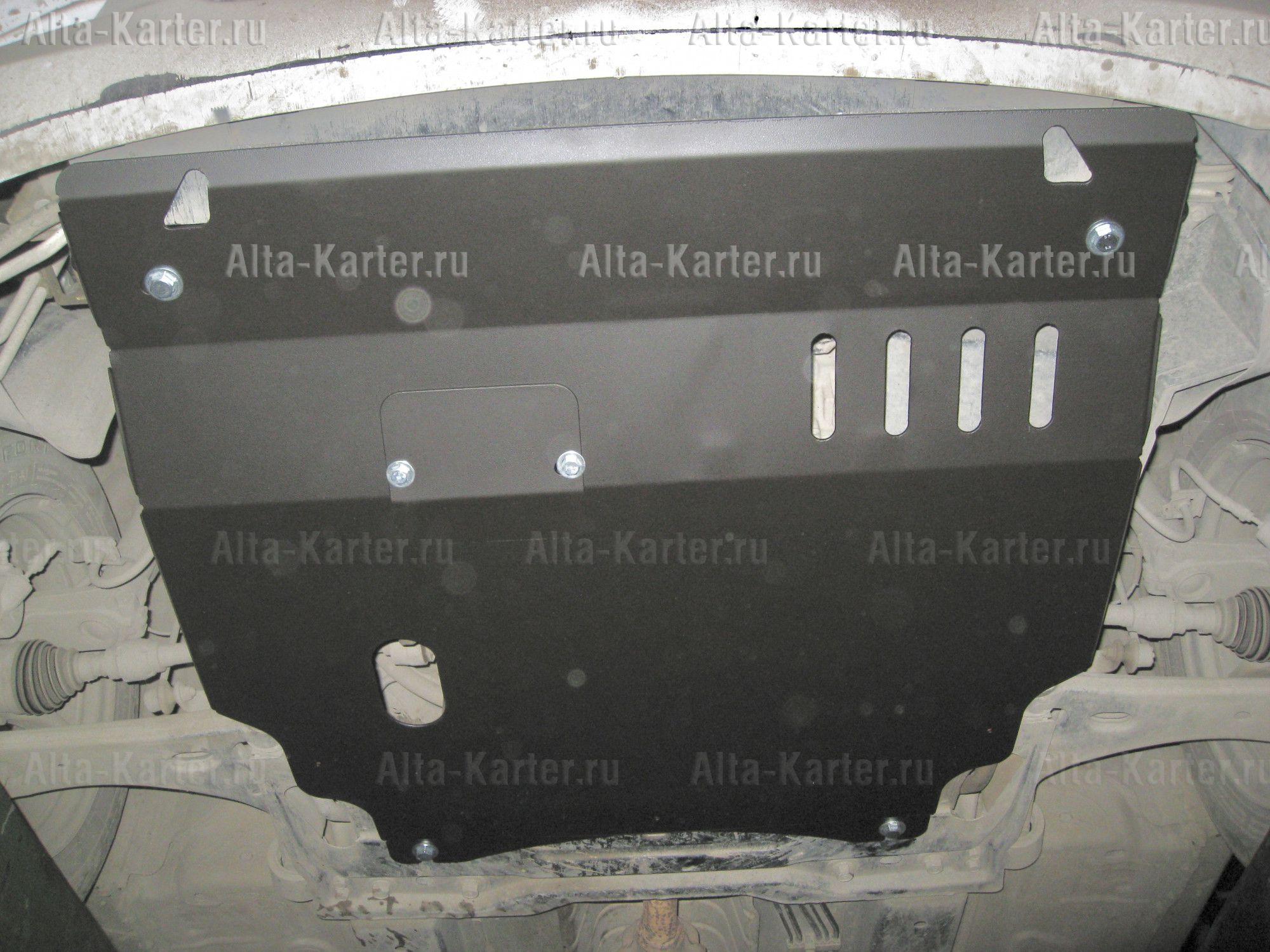 Защита Alfeco для картера и КПП Mazda Verisa 2WD 2004-2015. Артикул ALF.13.17