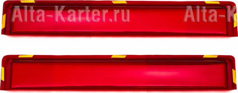 Дефлекторы REIN для окон (вставной) (2 шт.) КАМАЗ 1976 по наст. вр. Красный. Артикул REINWV822K
