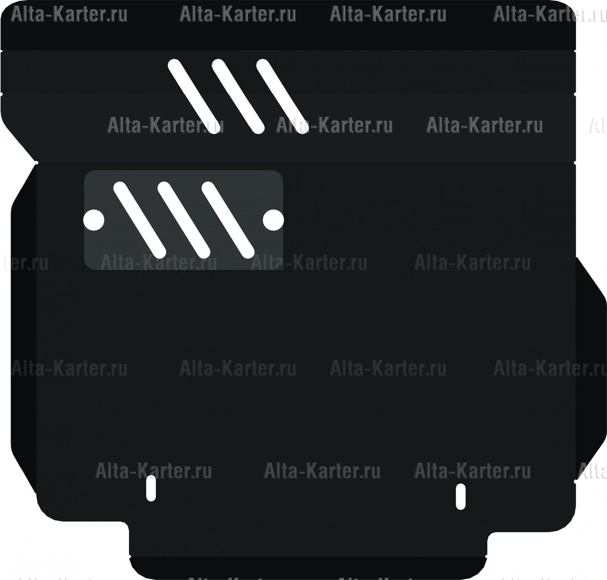 Защита Alfeco для картера и КПП Daihatsu Storia 1998-2005. Артикул ALF.24.80