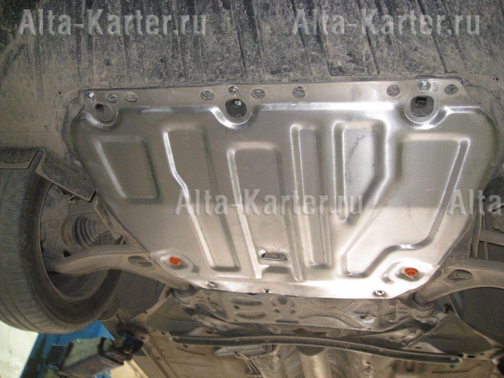 Защита Alfeco для картера и КПП (без лючков) Ford Focus II 2005-2010. Артикул ALF.07.01