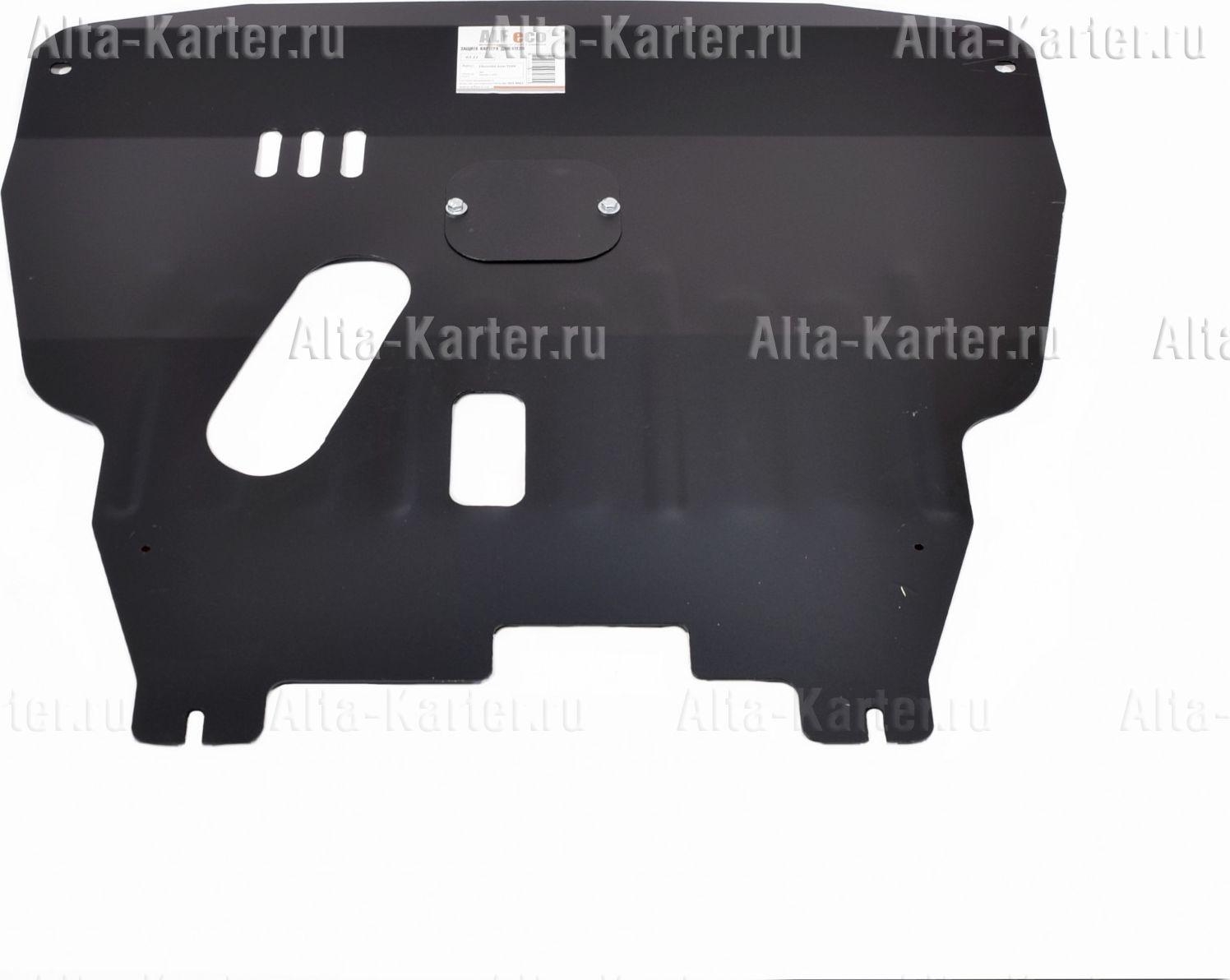 Защита Alfeco для картера и КПП Chevrolet Aveo I T200 2006-2008. Артикул ALF.03.11