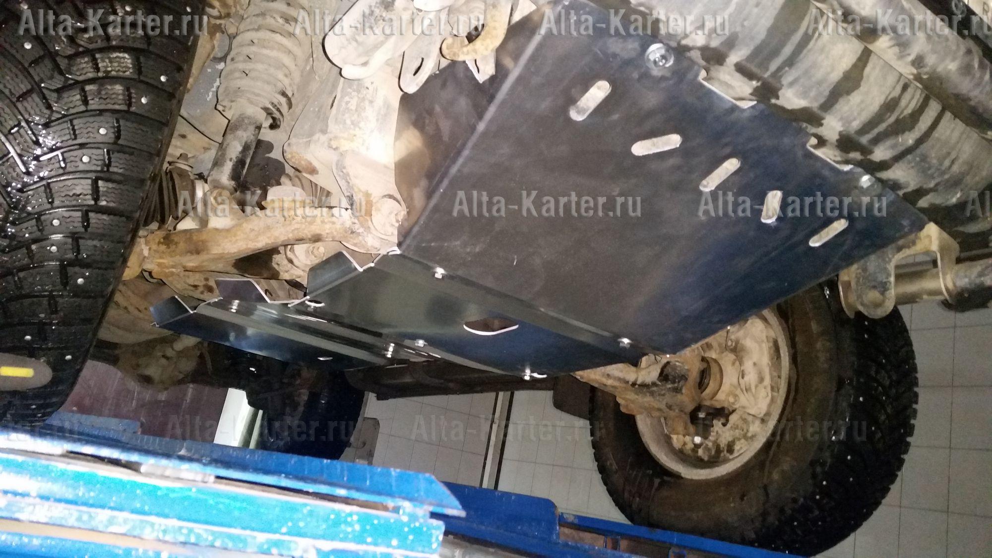 Защита Alfeco для радиатора, картера, КПП и раздатки Toyota Land Cruiser 90 5 дв. 1996-2002. Артикул ALF.24.109+ALF.24.110st