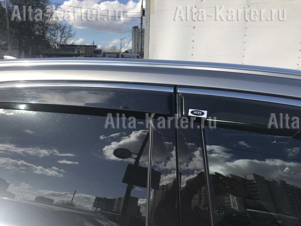 Дефлекторы Alvi-Style для окон с нержавеющим молдингом Hyundai Solaris II седан 2017 по наст. вр.. Артикул ALV394M