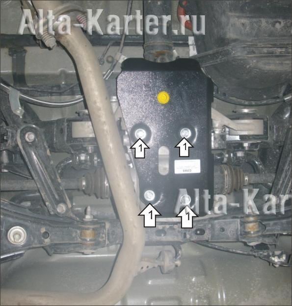 Защита 'Мотодор' для заднего дифференциала Toyota RAV4 IV 2013-2019. Артикул 02569