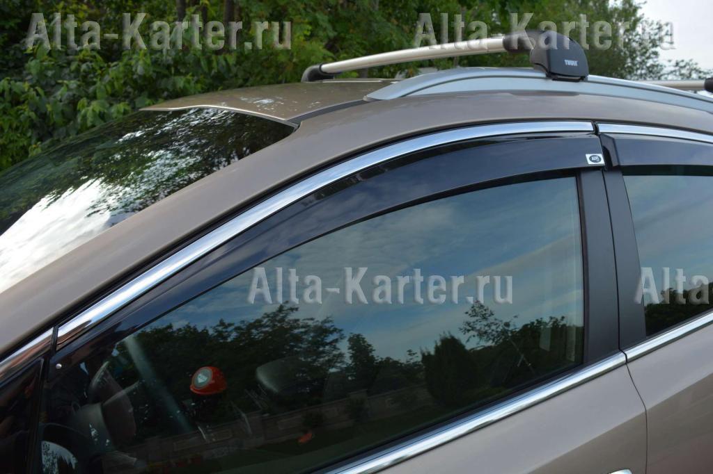 Дефлекторы Alvi-Style для окон с нержавеющим молдингом Renault Kaptur 2016 по наст. вр.. Артикул ALV399M