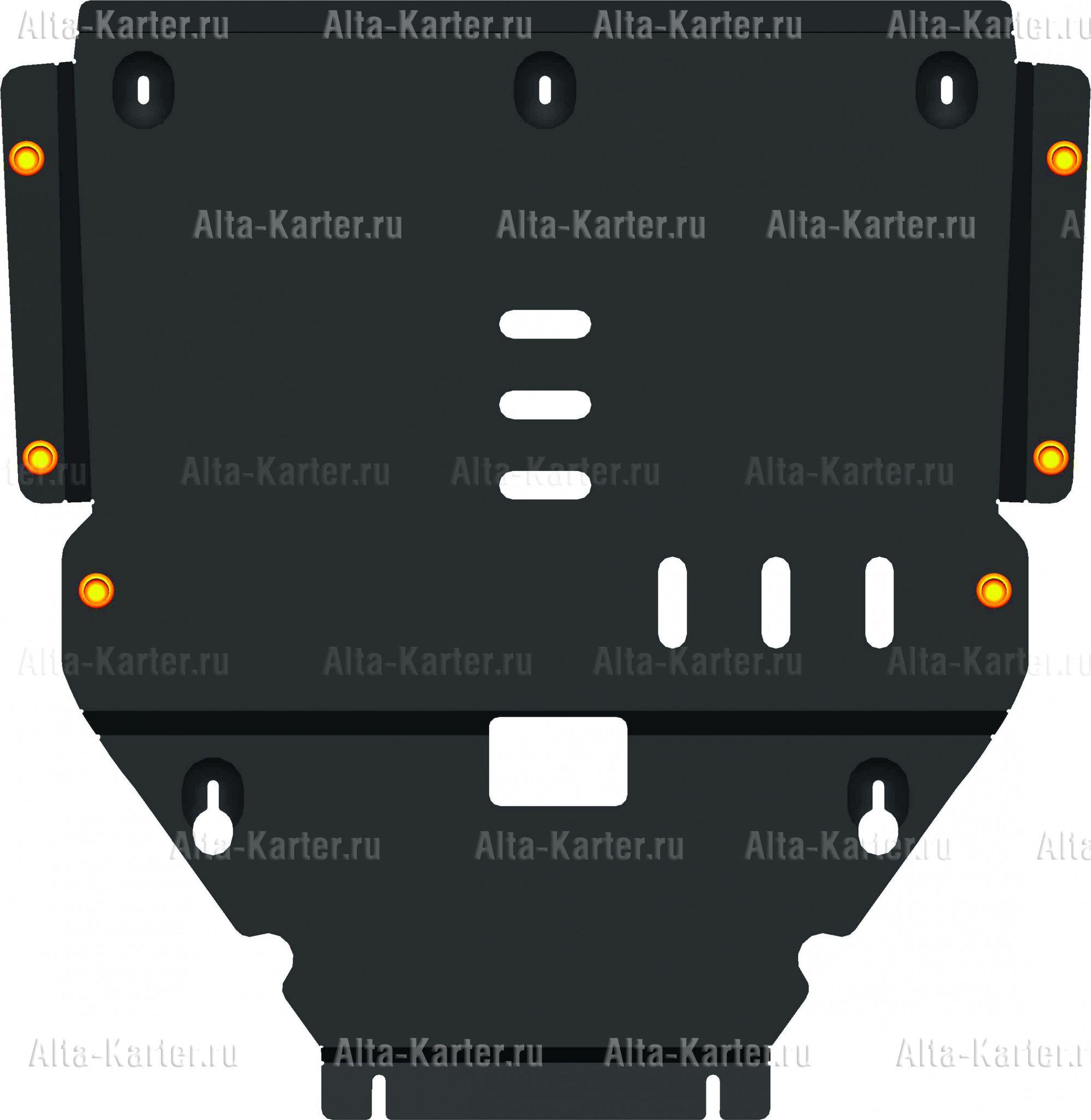 Защита Alfeco для картера и КПП Mercedes-Benz B-Класс W246 2011-2018. Артикул ALF.36.14