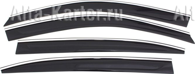 Дефлекторы Cobra Tuning для окон (с хром. молдингом) Volkswagen Teramont 2018 по наст. вр.. Артикул V25618CR