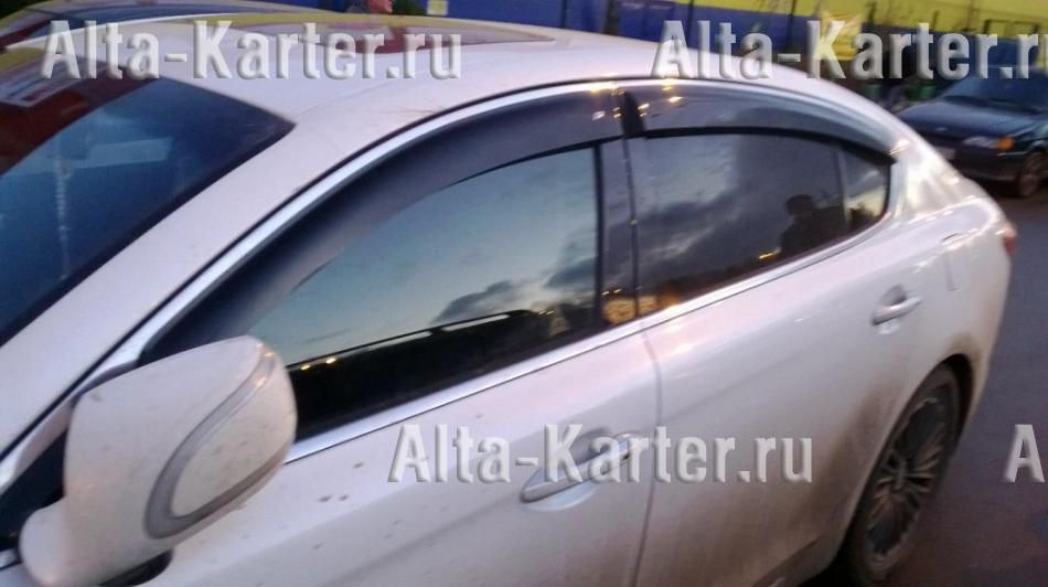 Дефлекторы Cobra Tuning EuroStandart для окон Kia Quoris (K9) 2012 по наст. вр.. Артикул KE13712
