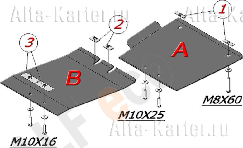 Защита Alfeco для АКПП (2 части) Infiniti FX 35, 45 2003-2008. Артикул ALF.29.10
