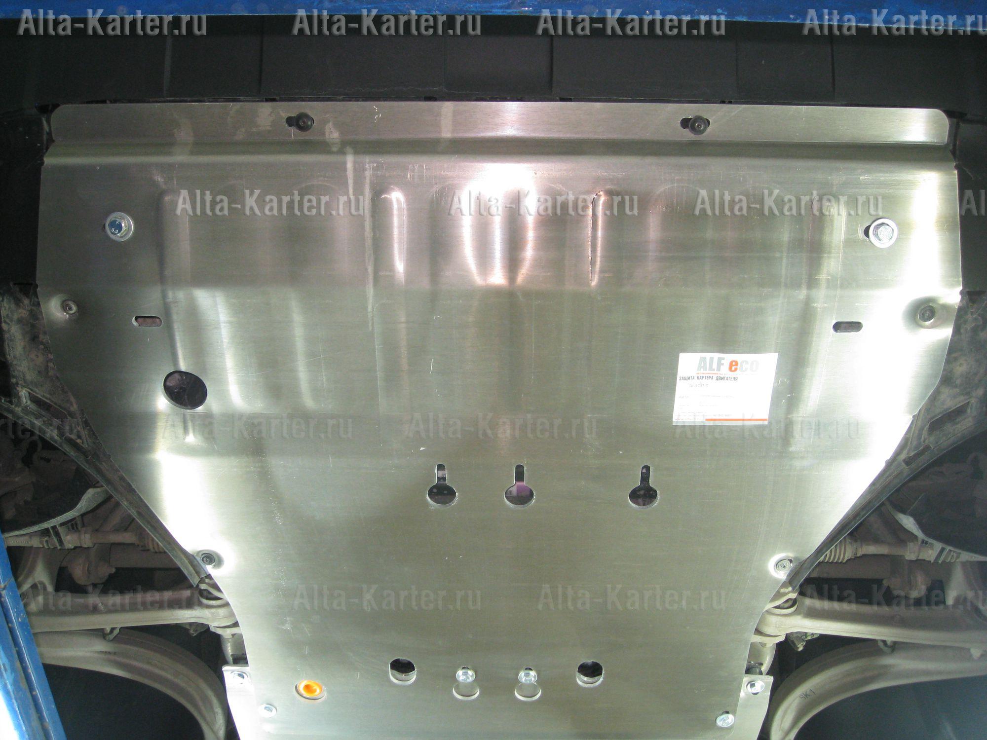 Защита Alfeco для картера и КПП Porsche Cayenne III 2017-2021. Артикул ALF.50.07