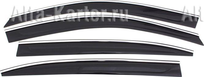 Дефлекторы Cobra Tuning для окон (с хром. молдингом) Volkswagen Atlas 2018 по наст. вр.. Артикул V25618CR
