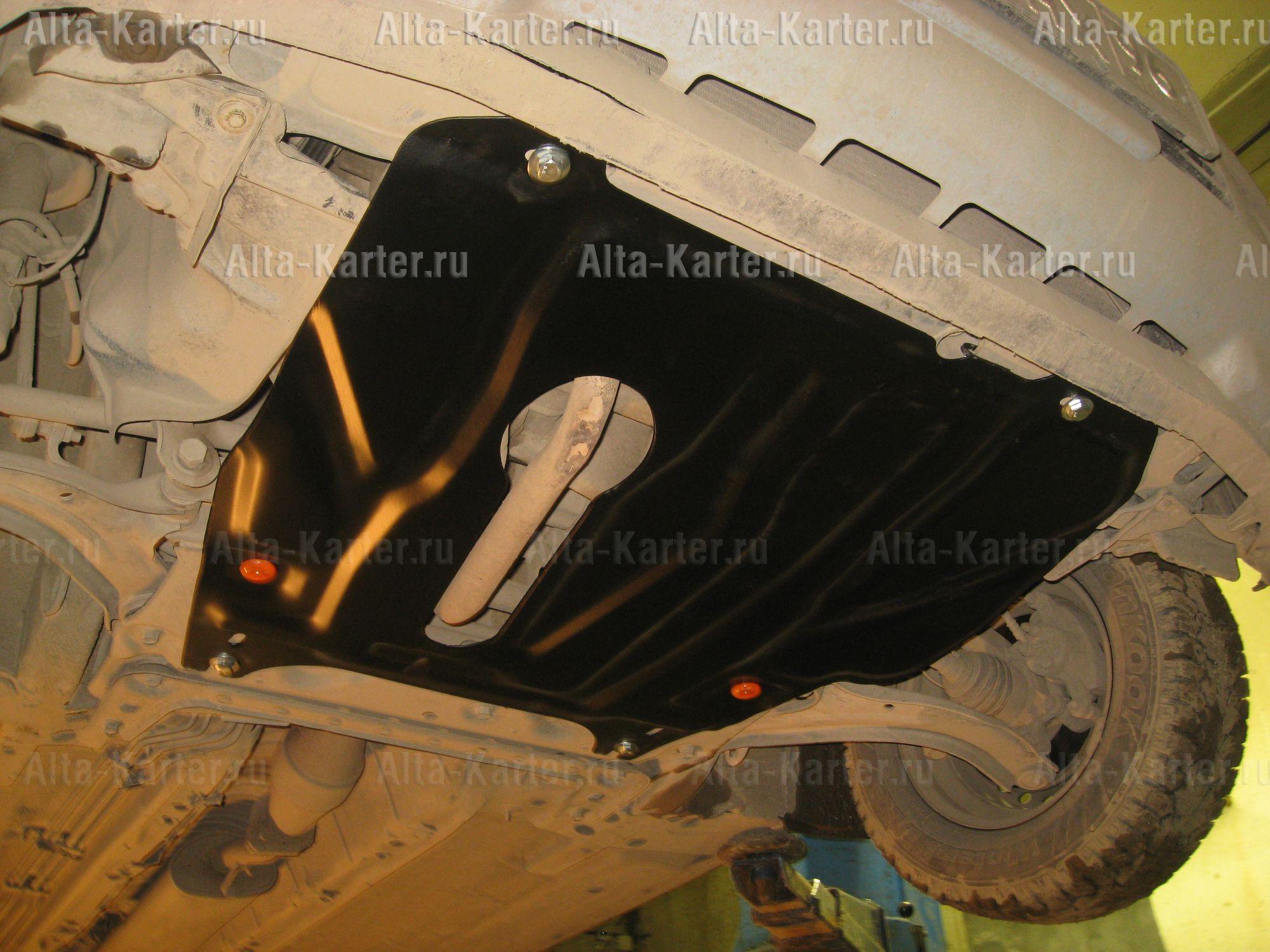 Защита Alfeco для картера и МКПП Nissan Note I (е11) 2005-2013. Артикул ALF.15.07