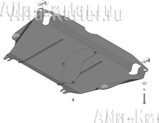 Защита 'Мотодор' для двигателя и КПП Toyota Rav4 IV AWD 2013-2019. Артикул 62503