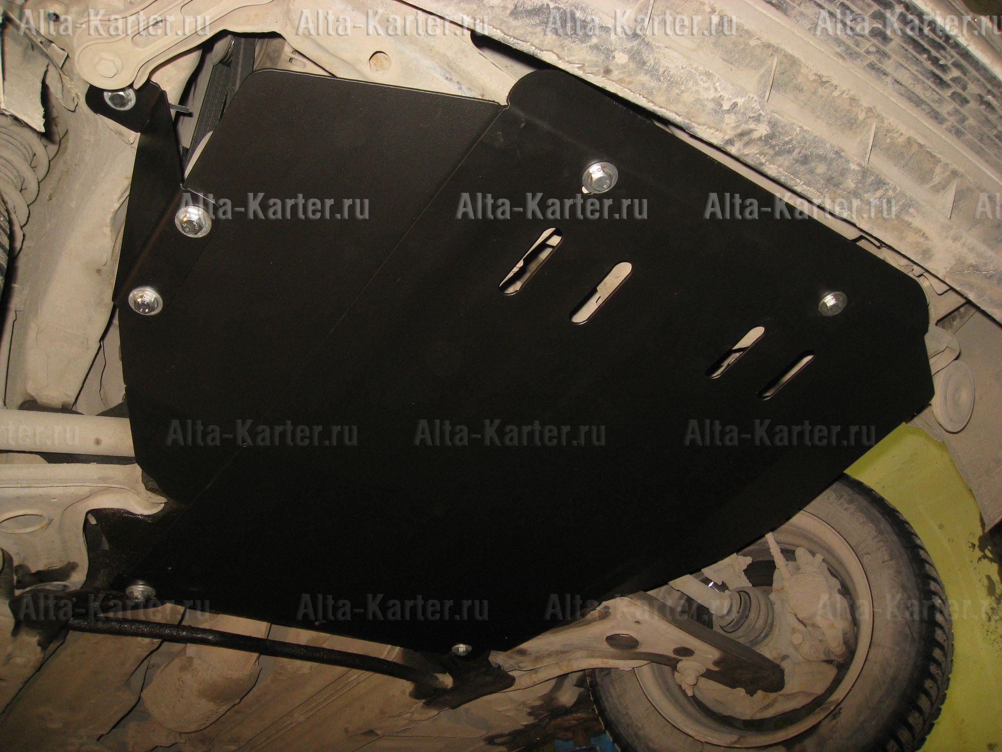 Защита Alfeco для картера и КПП Volkswagen Caddy II 1996-2004. Артикул ALF.26.25