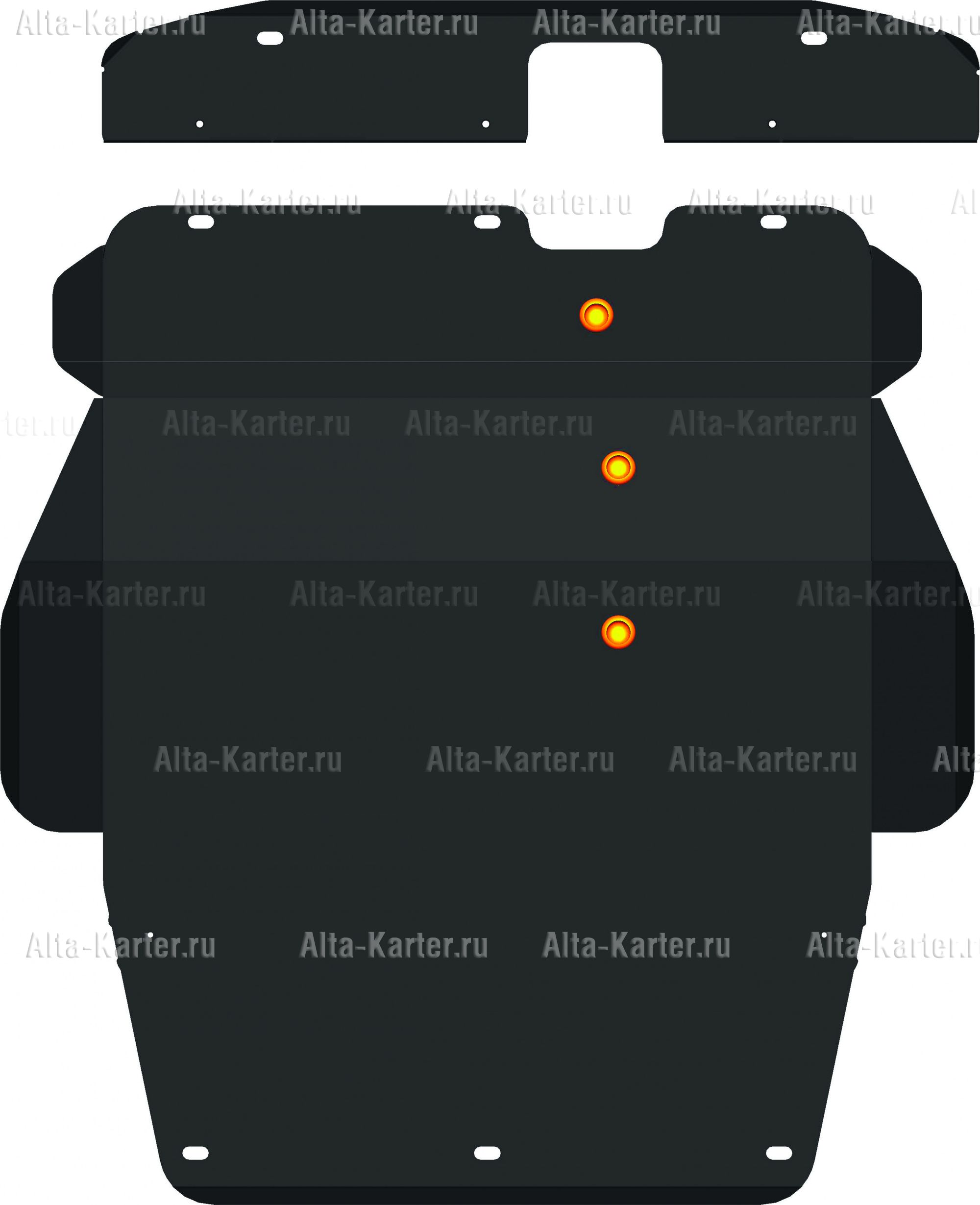 Защита Alfeco для картера и КПП Mitsubishi Galant VII 1992-1997. Артикул ALF.14.18
