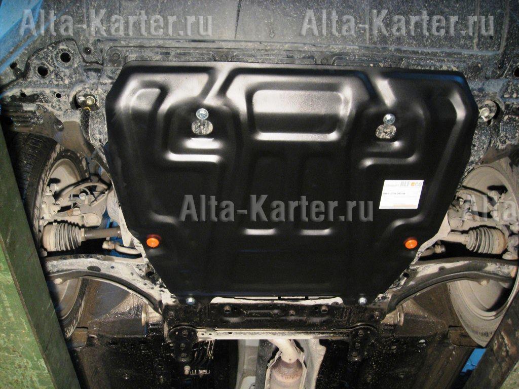 Защита Alfeco для картера и КПП Nissan X-Trail T31 2007-2014. Артикул ALF.15.14