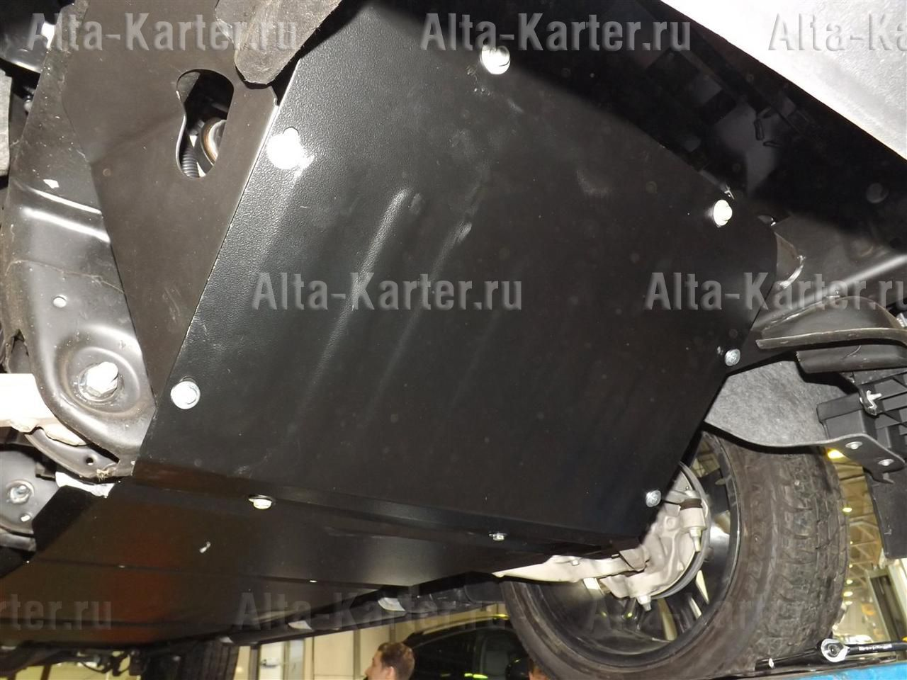 Защита Alfeco для картера (2 части) Cadillac Escalade IV 2014-2021. Артикул ALF.37.06