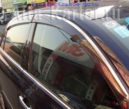 Дефлекторы Alvi-Style для окон с нержавеющим молдингом Kia Optima IV 2015 по наст. вр.. Артикул ALV396M
