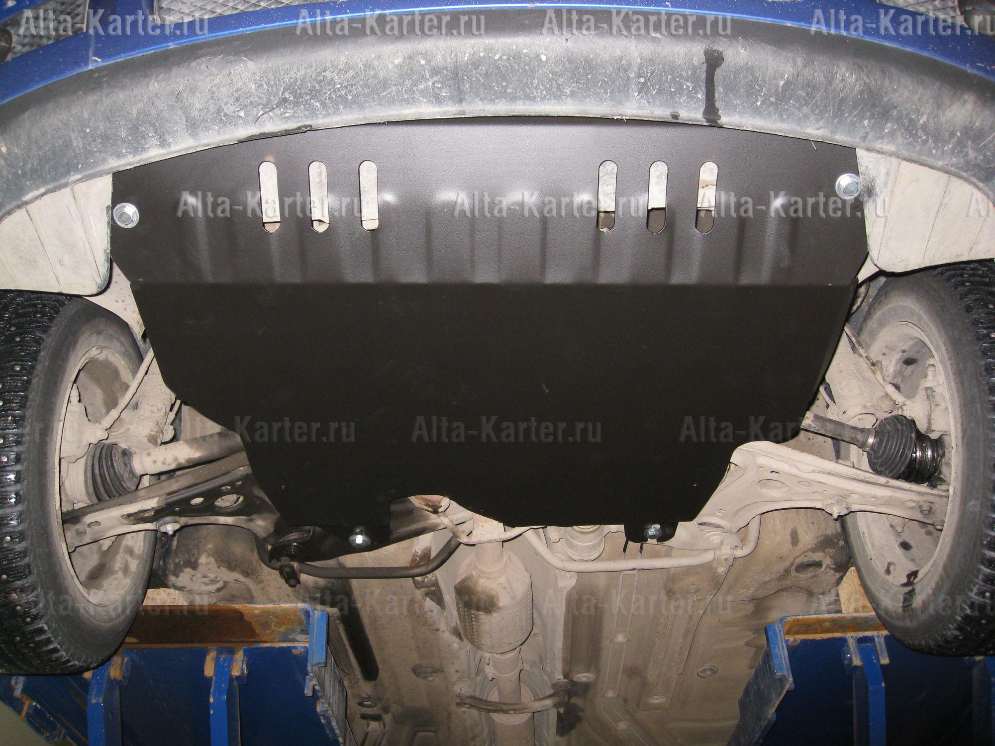 Защита Alfeco для картера и КПП Volkswagen Polo III 1994-2000. Артикул ALF.26.27