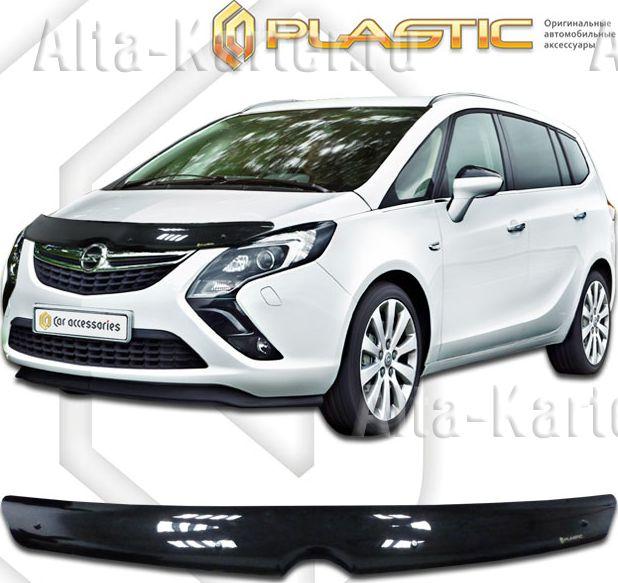 Дефлектор СА Пластик для капота (Classic черный) Opel Zafira 2011 по наст. вр.. Артикул 2010010111595