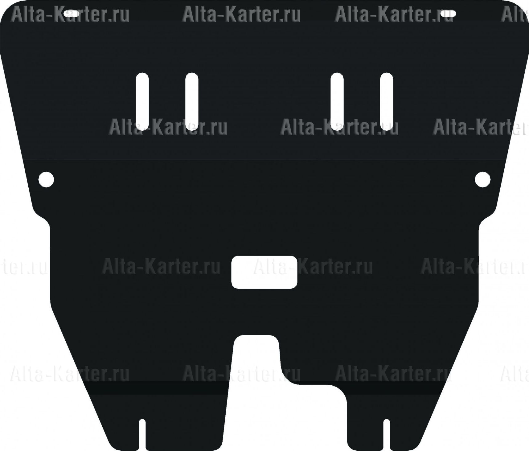 Защита Alfeco для картера и КПП Fiat 500 2007-2021. Артикул ALF.06.05