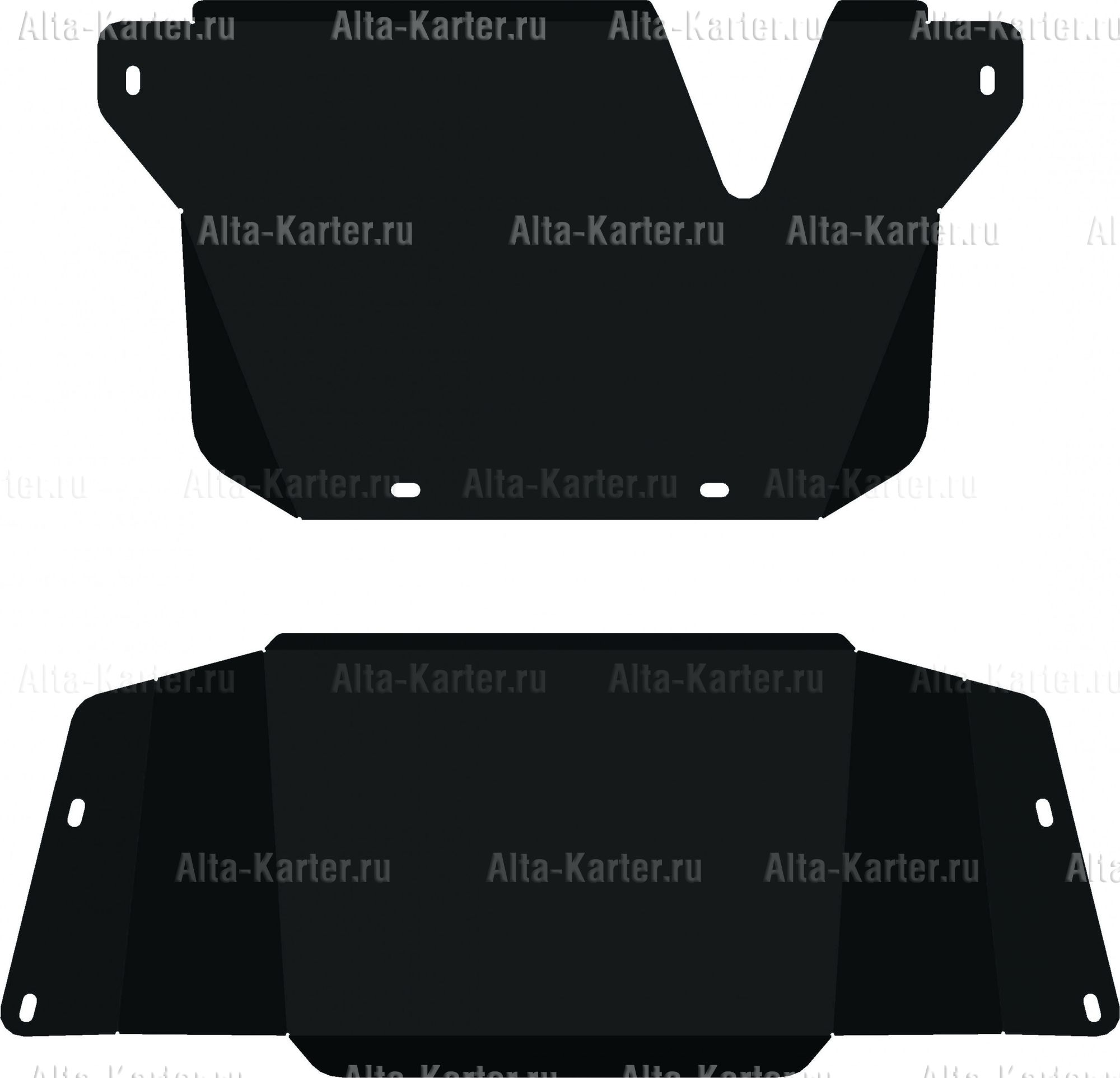 Защита Alfeco для КПП и РК Toyota Land Cruiser 105 2002-2007. Артикул ALF.24.83
