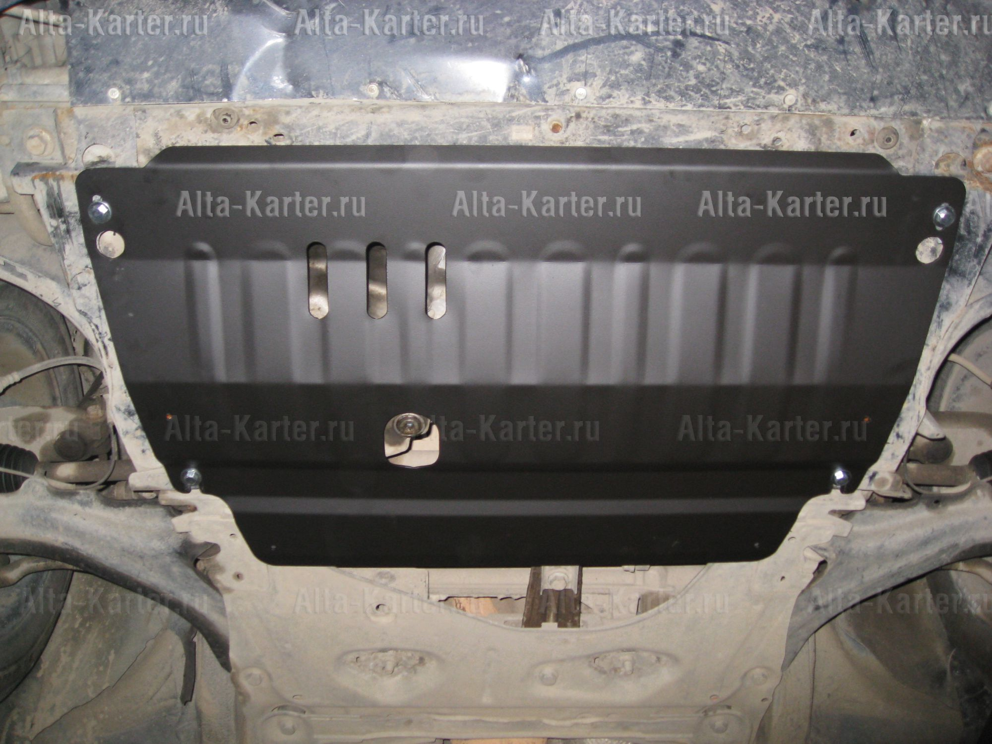 Защита Alfeco для картера и КПП Renault Megane II 2002-2009. Артикул ALF.18.03