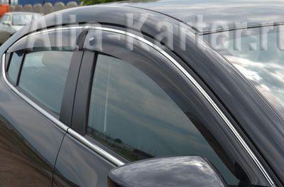 Дефлекторы Cobra Tuning для окон (c хром. молдингом) Mercedes-Benz C-Класс W205 седан 2014 по наст. вр.. Артикул M34314CR